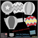 Hot Air Balloons - Layered Templates - CU4CU