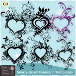 Swirly Heart Frames 1 Templates FS - CU