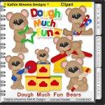 Dough Much Fun Bears Clipart - CU