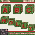 Alpha Blocks - Chrismas Red Green - Tagger Size CU