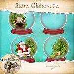 Snow globes set 4