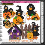 Halloween Crows SE Layered Templates - CU