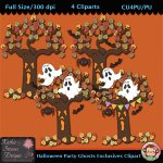 Halloween Party Ghosts Exclusives Clipart - CU