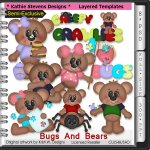 Bugs And Bears SE Layered Templates - CU