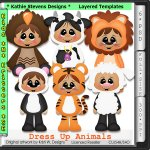 Dress Up Animals Layered Templates - CU