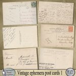 Vintage ephemera post cards 1
