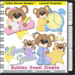 Bubbles Sweet Dreams Layered Templates - CU
