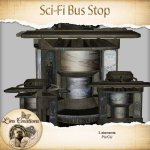 Sci-fi Bus stop