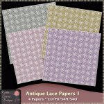 Antique Lace Papers 1 CU FS