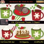 Christmas Treats 1 Clipart - CU