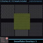 Snowflake Overlays 5 Tagger Size CU
