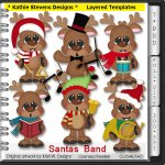 Santas Band Layered Templates - CU