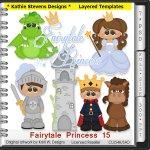 Fairytale Princess Layered Templates - CU