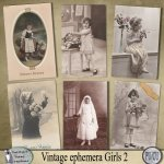 Vintage ephemera girls 2