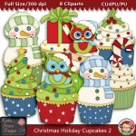 Christmas Holiday Cupcakes 2 - CU