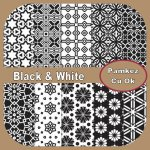 Black And White Patterned Papers