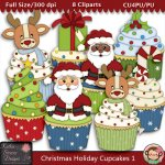 Christmas Holiday Cupcakes 1 - CU