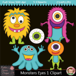 Monsters Eyes 1 Clipart - CU