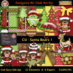 Santa Bears 1 - CU Kit - Designer Resource
