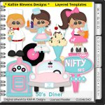 50's Diner Layered Templates - CU