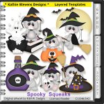 Spooky Squeaks Layered Templates - CU