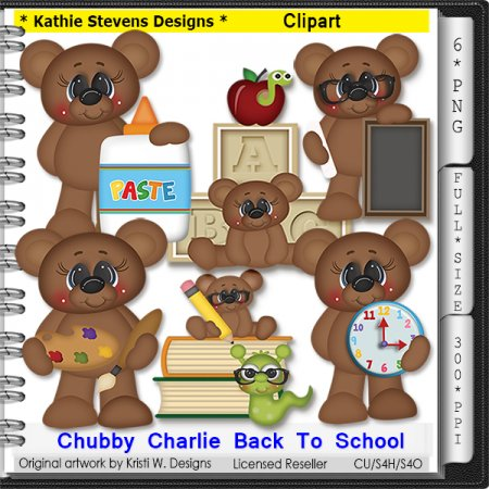 Chubby Charlie Back To School Clipart - CU