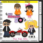 The Fab 50's Clipart - CU