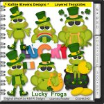 Lucky Frogs Layered Templates - CU