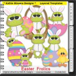Easter Frolics Frogs Layered Templates - CU