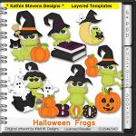 Halloween Frogs Layered Templates - CU
