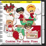 Cookies For Santa Pixes Clipart - CU