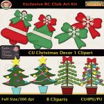 Christmas Decor 1 Clipart - CU