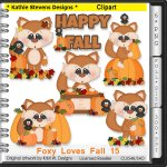 Foxy Loves Fall Clipart - CU