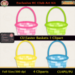 Easter Baskets 1 Clipart - CU