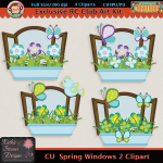 Spring Windows 2 Clipart - CU